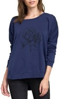 RVCA Women's La Petite Rose Fleece Pullover