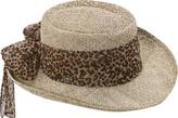 Scala LS106OS Gambler Hat with Animal Print Bow (Women's)