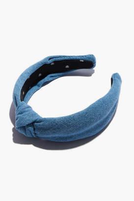 Lele Sadoughi Light Denim Knotted Headband