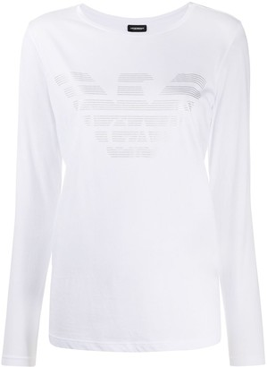 Emporio Armani logo print long-sleeved T-shirt