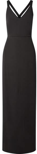 Alice + Olivia Alice Olivia - Brianna Grosgrain-trimmed Crepe Maxi Dress - Black