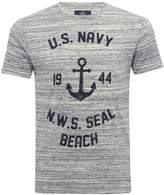 M&Co Threadbare navy seal printed t-shirt