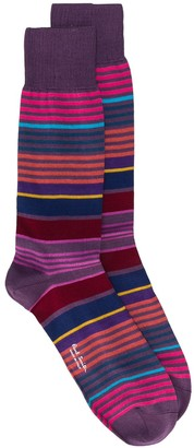 Paul Smith Striped Fitted Socks
