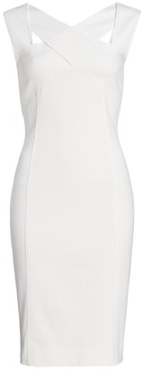 Akris Punto Crisscross Neck Sheath Dress