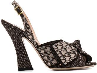 Fendi FFredom slingback sandals
