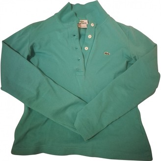 Lacoste Green Cotton Top for Women