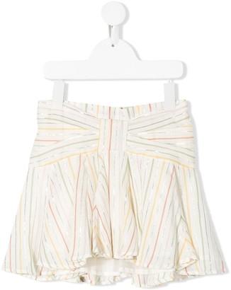 Bonpoint Striped Mini Skirt