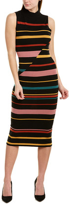 BCBGMAXAZRIA Ribbed Stripe Sheath Dress
