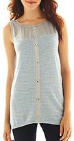 JCPenney Susan Lawrence High-Low Tank Top