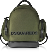 DSQUARED2 Khaki Mesh Fabric Signature Men's Backpack w/Black Accents