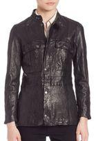 Frame Vintage Leather Jacket