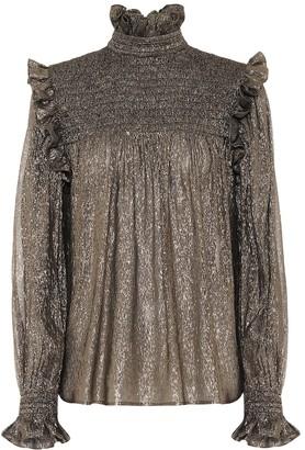 Saint Laurent Silk-blend chiffon blouse