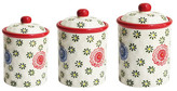 Jay Import Red Berries Canister - Set of 3