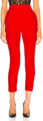 Alexander McQueen High Waisted Cigarette Trousers in Lust Red | FWRD