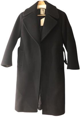 Sandro Navy Wool Coat for Women