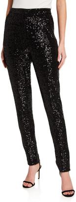 St. John Starlight Sequin Mesh Pants