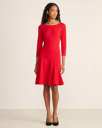 Tommy Hilfiger Scarlet Long Sleeve Flounce Dress