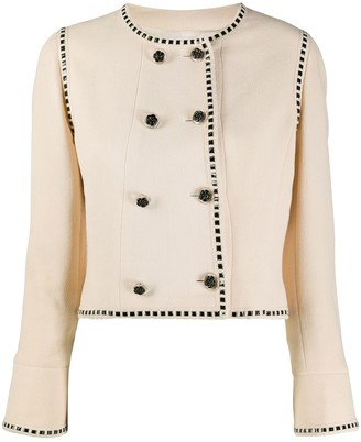 Chanel Pre Owned 1990s Cropped Double-Breasted Jacket