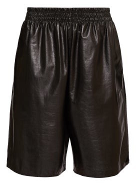 Bottega Veneta Elasticated-waist Leather Shorts - Black