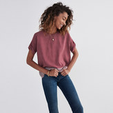 Madewell Silk Premiere Bow-Back Tee in Ascot Tile