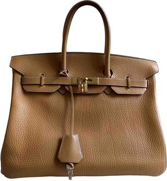 Hermã ̈S HermAs Birkin 35 Gold Leather Handbags