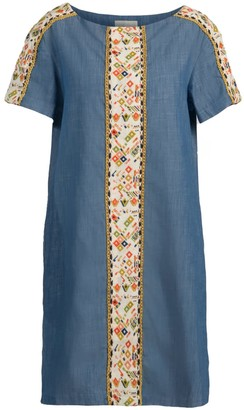 Emily Embroidered Denim Dress