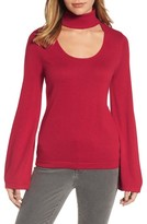 Vince Camuto Petite Women's Bell Sleeve Choker Neck Sweater