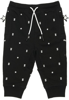Burberry All Over Print Cotton Sweatpants