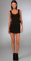 Zip Peplum Mini Dress