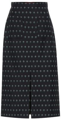 ALEXACHUNG Jacquard wool-blend skirt