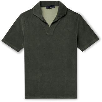 Lardini Slim-Fit Cotton-Blend Terry Polo Shirt