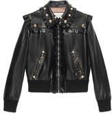 Gucci Studded leather bomber