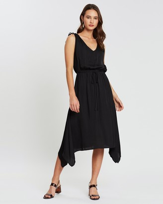 Atmos & Here Tara Tie-Shoulder Dress