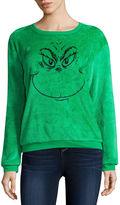 Hybrid Tees Grinch Fleece Sweatshirt- Juniors