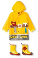 Wippette Boys' Wippette Work Zone Rain Jacket and Rain Boots Set Yellow