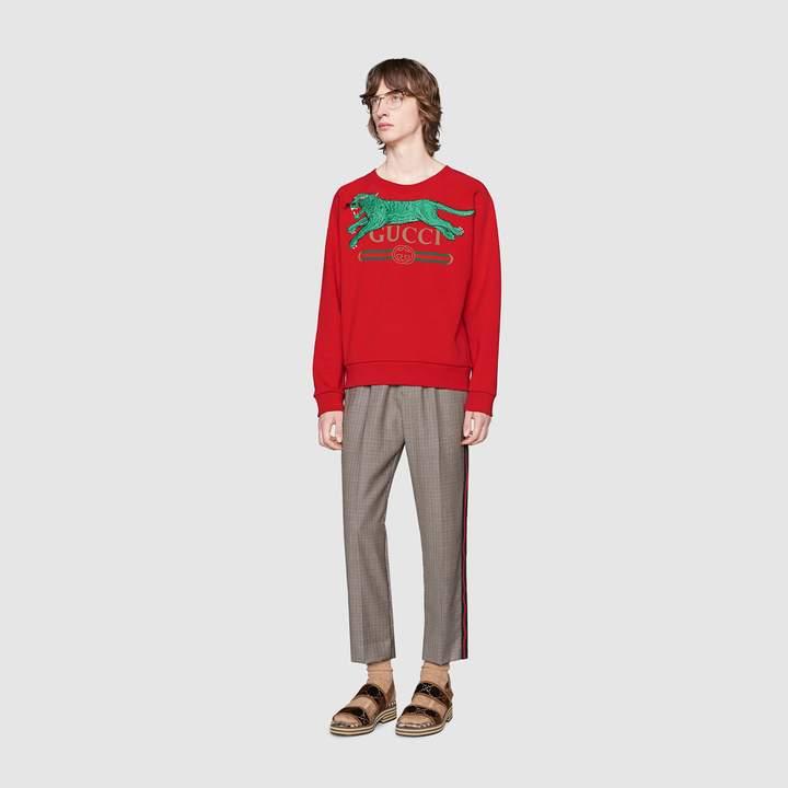 Gucci logo sweatshirt with tiger