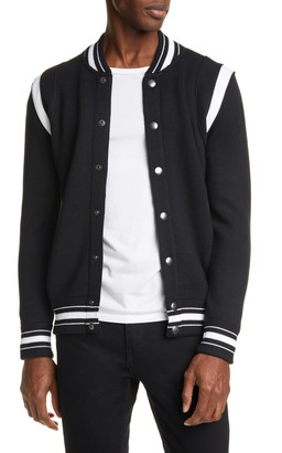 Givenchy Knit Wool Bomber Jacket