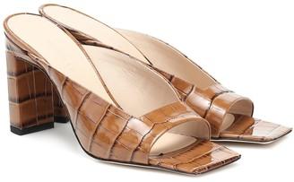 Wandler Isa croc-effect leather sandals