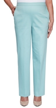 Alfred Dunner Cottage Charm Sateen Pull-On Pants