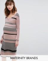 Mama Licious Mama.licious Mamalicious Striped Knitted Dress