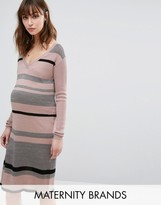 Mama Licious Mama.licious Striped Knitted Dress