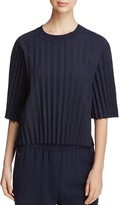 DKNY Pleated Pinstripe Top