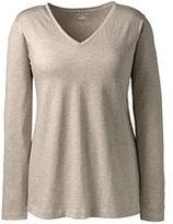 Classic Women's Plus Size Supima V-neck Tunic Top-Black Textured Jacquard