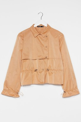 Nasty Gal Womens Draw the Line Cropped Trench Coat - Camel