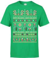 Nintendo Super Mario Bad Guys Christmas Green T-Shirt