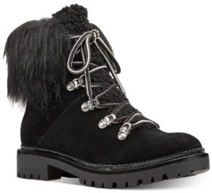 Nine West Alex Faux-Fur Booties Women's Shoes