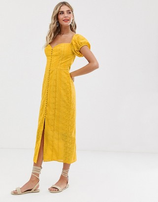 Finders Keepers Elle Dress-Yellow