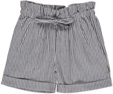 Nui Lauren Chambray Striped Organic Cotton Shorts