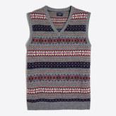 J.Crew Factory Lambswool Fair Isle sweater-vest