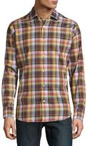 Robert Talbott Men's Crespi Casual Checked Sportshirt